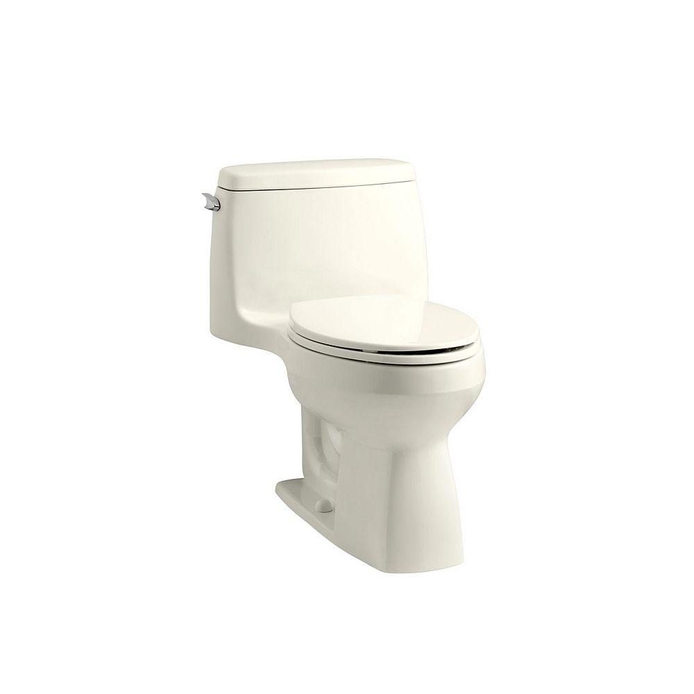 KOHLER Santa Rosa Comfort Height 1-Piece 1.28 GPF Single Flush Compact Elongated Toilet in Biscuit