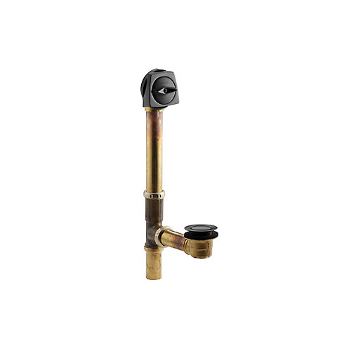 Clearflo 1-1/2 Inch Adjustable Pop-Up Drain With Through-The-Floor Installations For 14 Inch-16 Inch Deep Baths