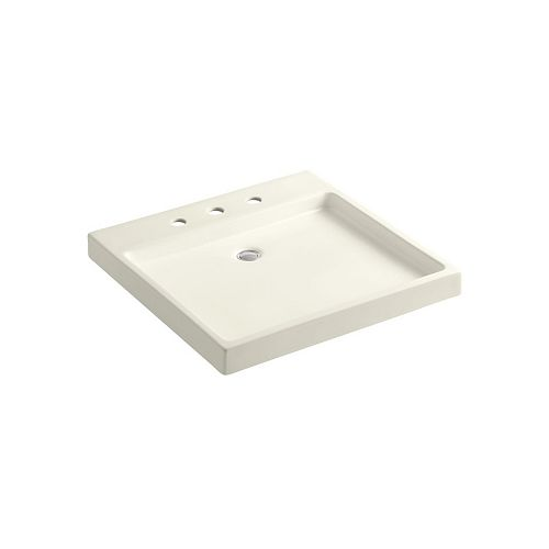 Purist(R) Wading Pool(R) fireclay bathroom sink with 8 inch widespread faucet holes