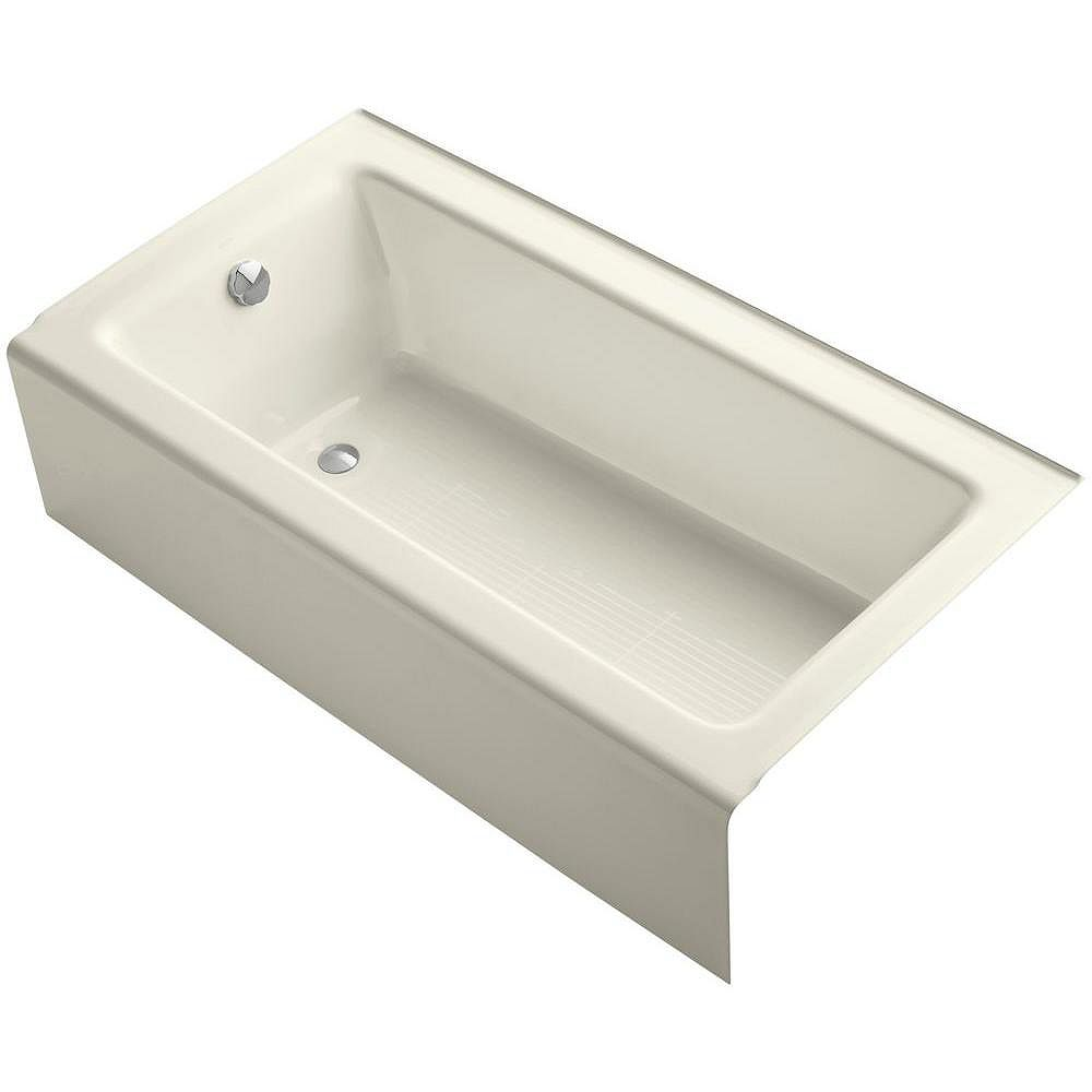 """KOHLER Bellwether(R) 60"""" x 32"""" alcove bath with integral apron and left-hand drain"""