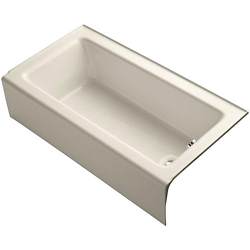 "Bellwether(R) 60"" x 32"" alcove bath with integral apron and right-hand drain"