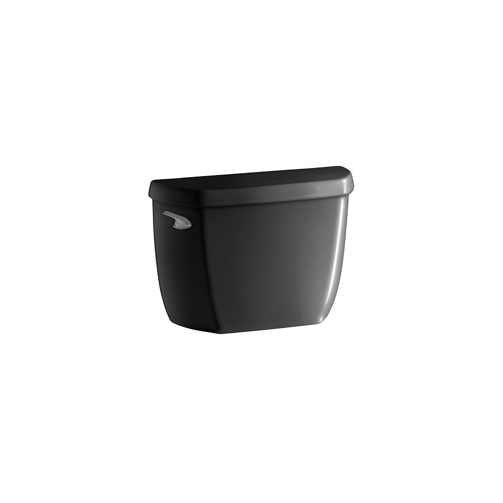 KOHLER Wellworth Classic 4.8 LPF Single Flush Toilet Tank Only with Class Five Flushing Technology in Black