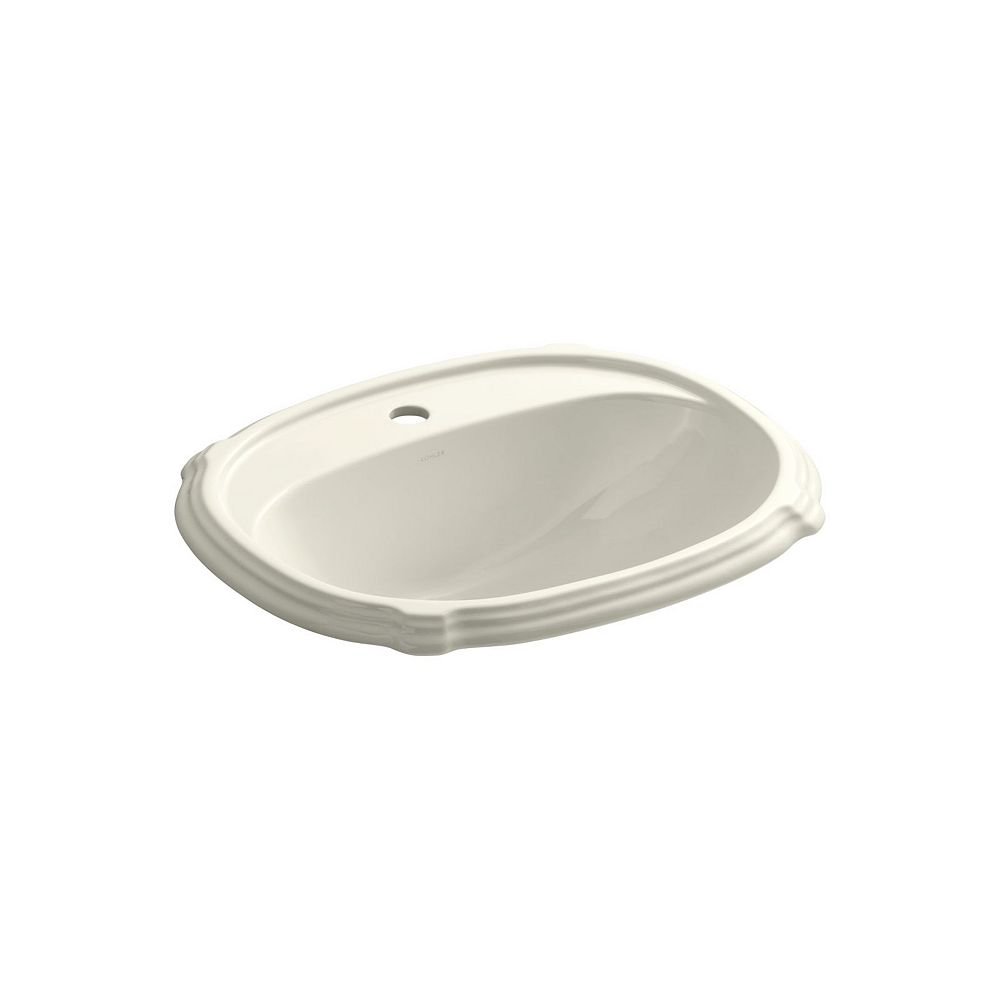 KOHLER Portrait(R) drop-in bathroom sink with single faucet hole