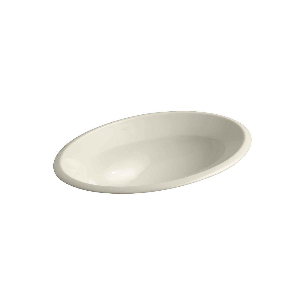 KOHLER Centerpiece 27-inch L x 19 3/8-inch W x 36 1/2-inch H Self-Rimming Bathroom Sink in White