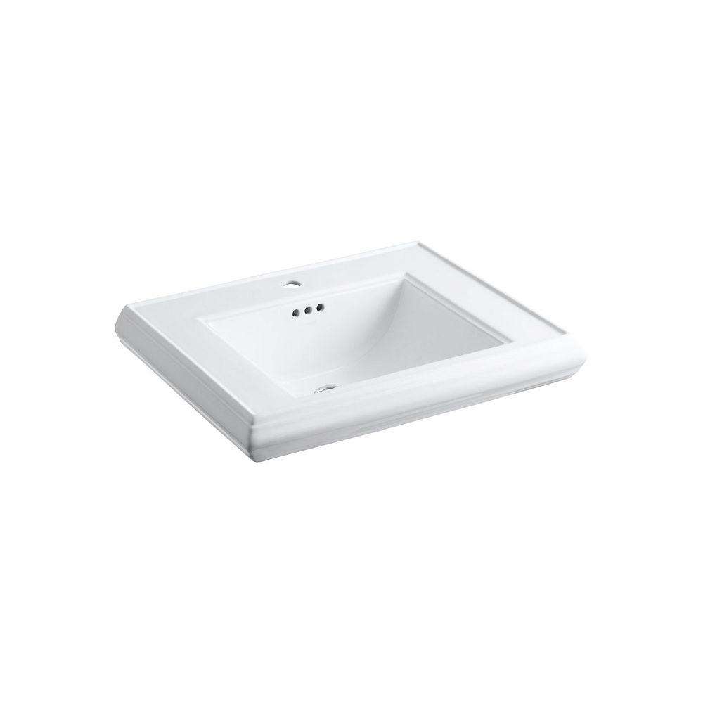KOHLER Memoirs(R) pedestal/console table bathroom sink basin with single faucet-hole drilling