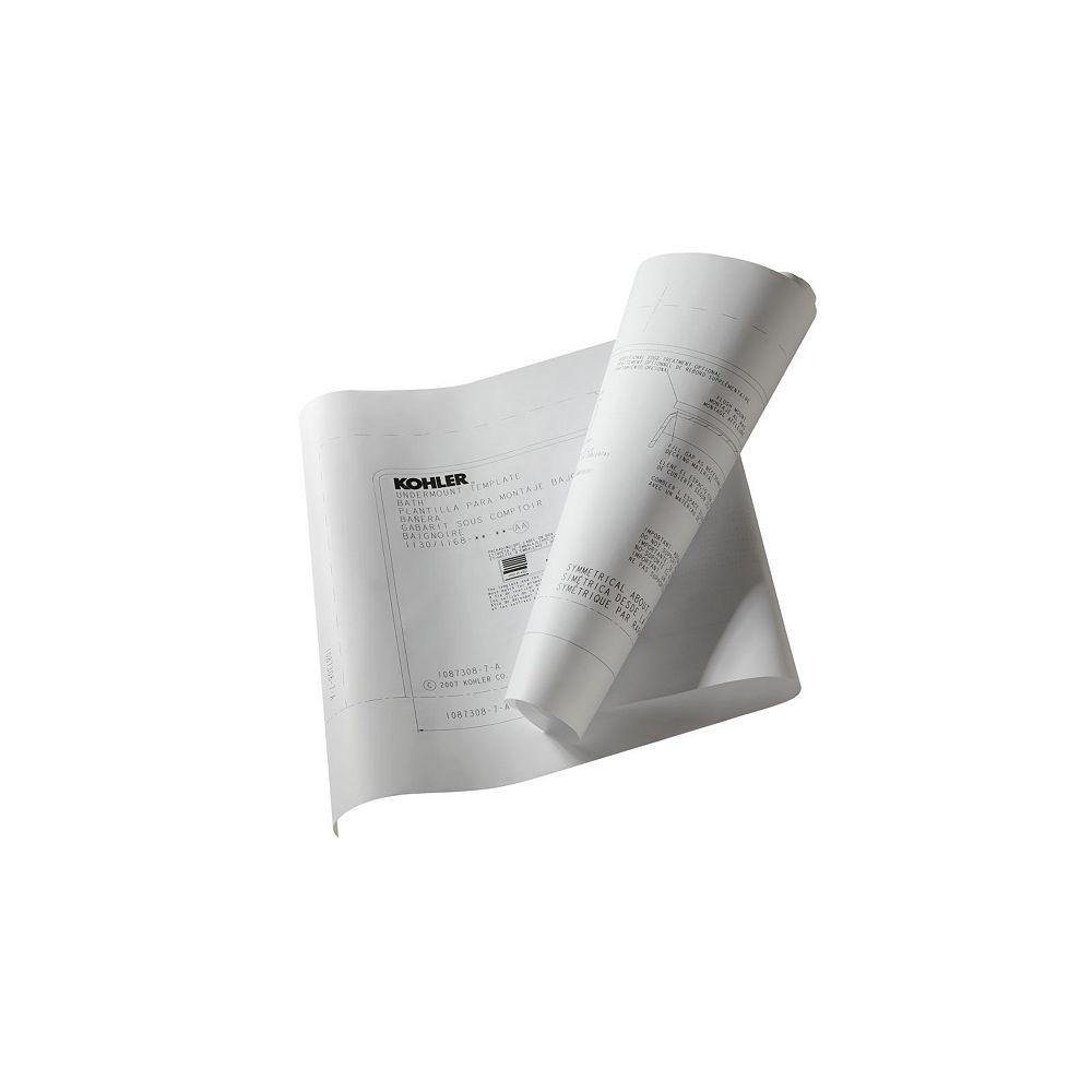 KOHLER Trousse d'installation en sous-surface Tea-for-Two pour baignoire et baignoire a hydromassage, 5 pi