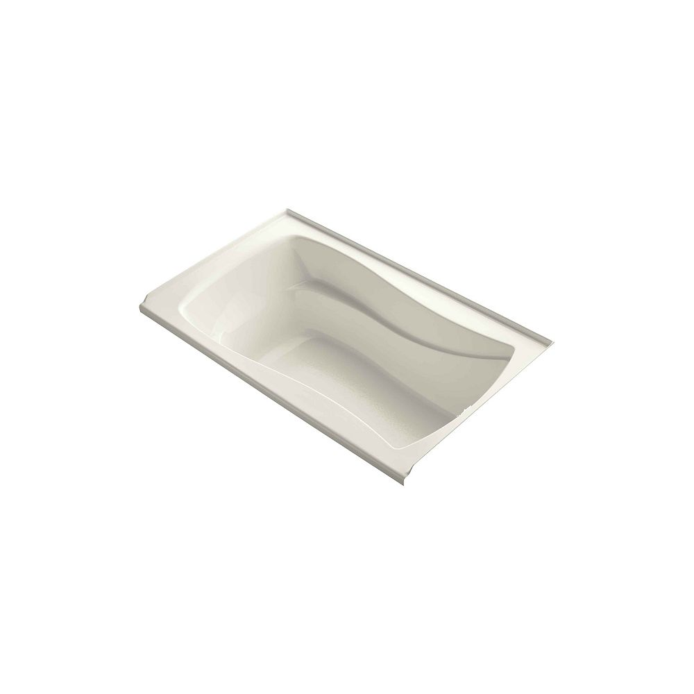 """KOHLER Mariposa(R) 60"""" x 36"""" alcove bath with integral flange and right-hand drain"""