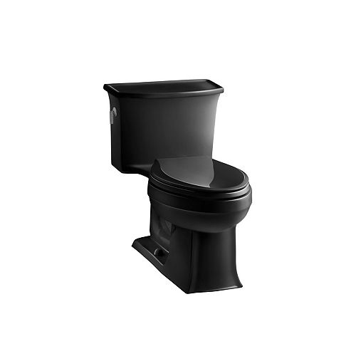 Archer 1-piece 4.8 LPF Single Flush Elongated Toilet in Black Black