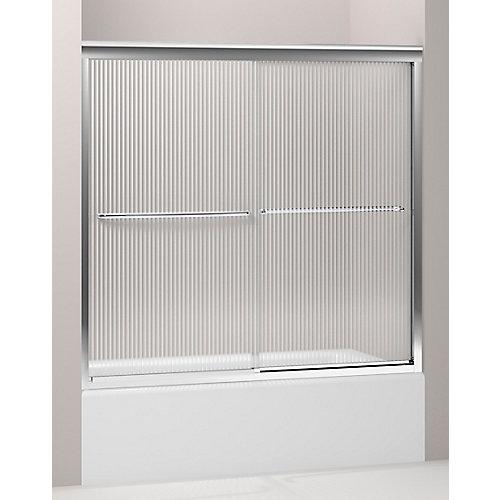 Fluence(R) Frameless Bypass Bath Door With Falling Lines Glass