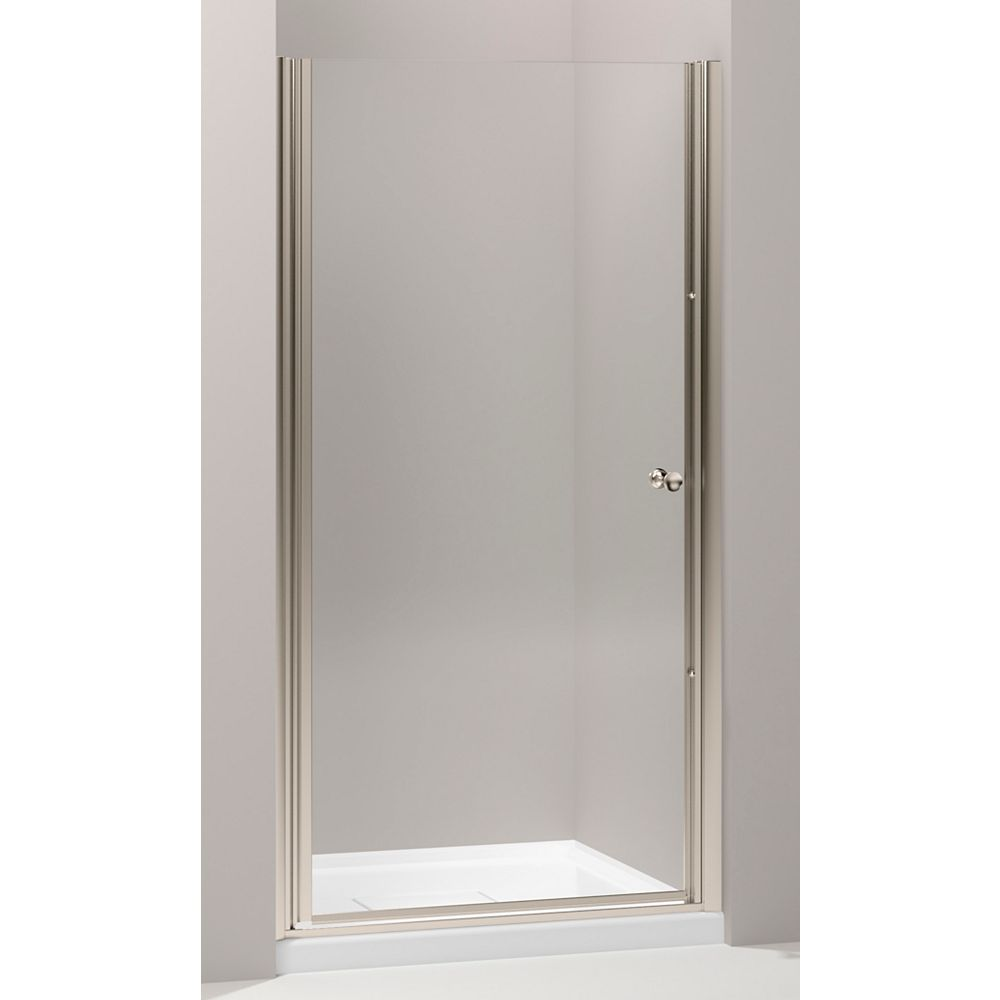 KOHLER Fluence(R) Frameless Pivot Shower Door With Crystal Clear Glass