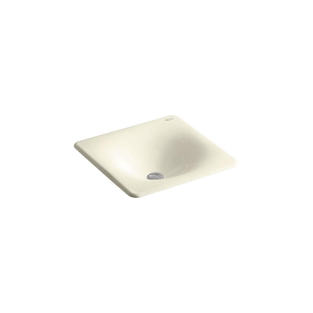 KOHLER Iron/Tones(R) 16-3/8 inch X 15-5/8 inch X 5-3/4 inch drop-in/under-mount bathroom sink