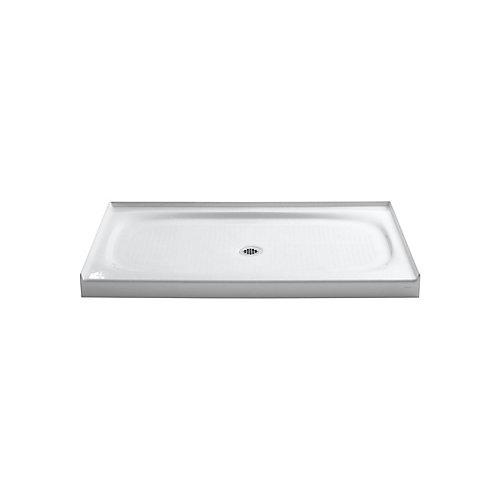 Salient 60-inch x 36-inch Cast Iron Single Threshold Shower Base in White
