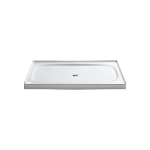 KOHLER Salient 60-inch x 36-inch Cast Iron Single Threshold Shower Base in White