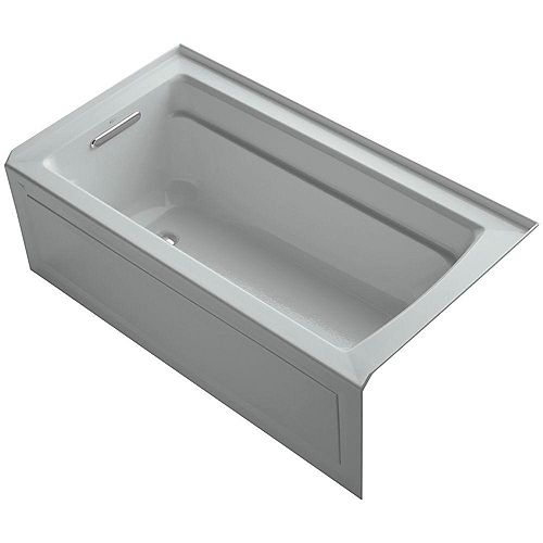 "KOHLER Archer(R) 60"" x 32"" alcove bath with integral apron, integral flange and left-hand drain"