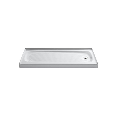 Salient(R) Receptor With Right-Hand Drain, 60 Inch X 30 Inch
