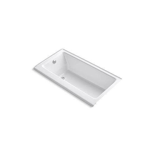 KOHLER Baignoire en alcove Highbridge®, 60 x 32 po, avec tablier emaille et drain a gauche
