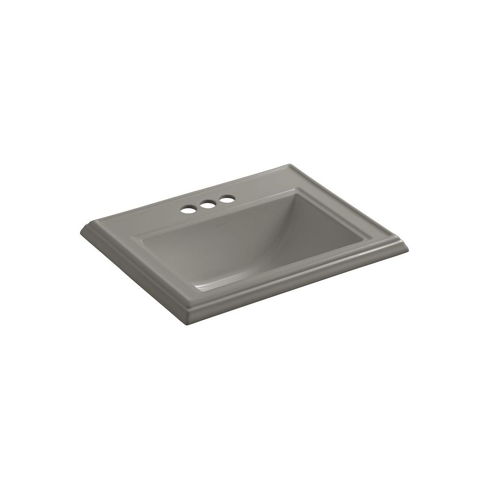 KOHLER Memoirs(R) Classic drop-in bathroom sink with 4 inch centerset faucet holes