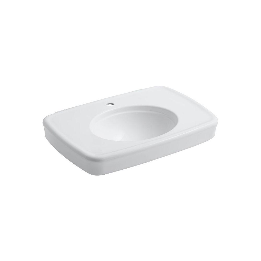 KOHLER Bancroft(R) 30 inch bathroom sink with single faucet hole