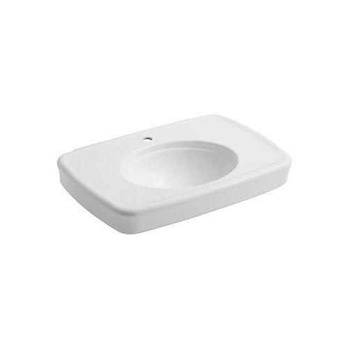 KOHLER Lavabo de salle de bain Bancroft 30 po, avec trou unique de robinet