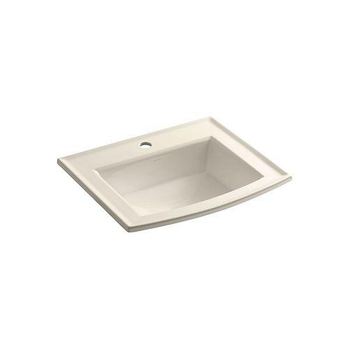 KOHLER Lavabo de salle de bain encastre Archer avec trou unique de robinet