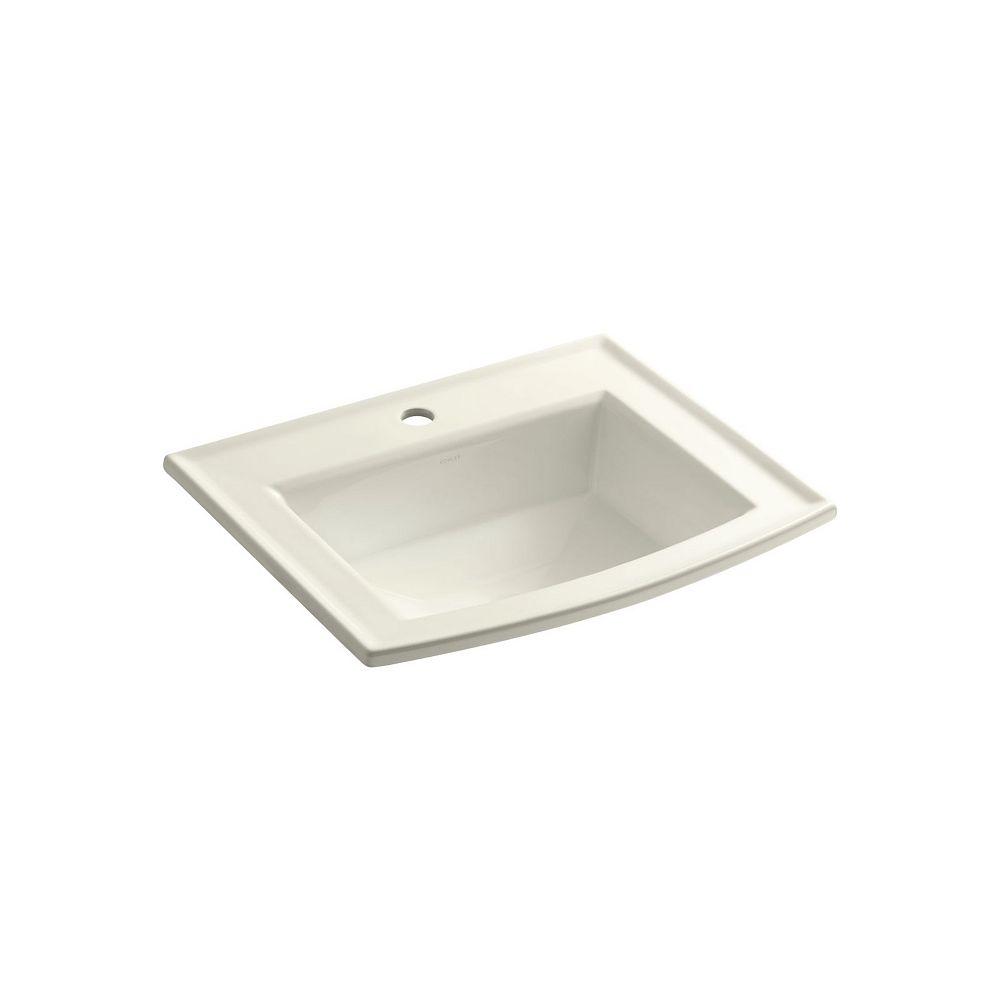 KOHLER Archer(R) drop-in bathroom sink with single faucet hole
