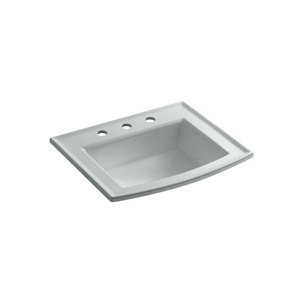 KOHLER Archer(R) drop-in bathroom sink with 8 inch widespread faucet holes