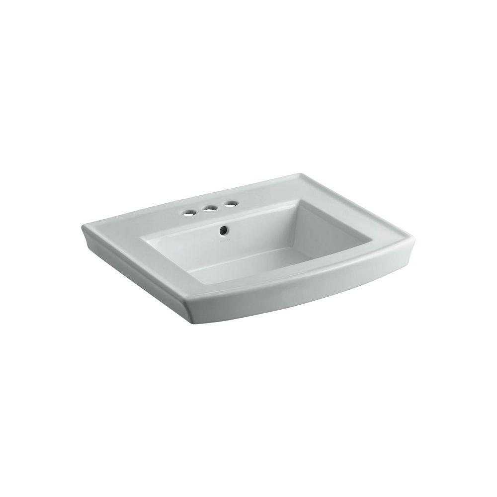 KOHLER Archer(R) pedestal bathroom sink with 4 inch centerset faucet holes