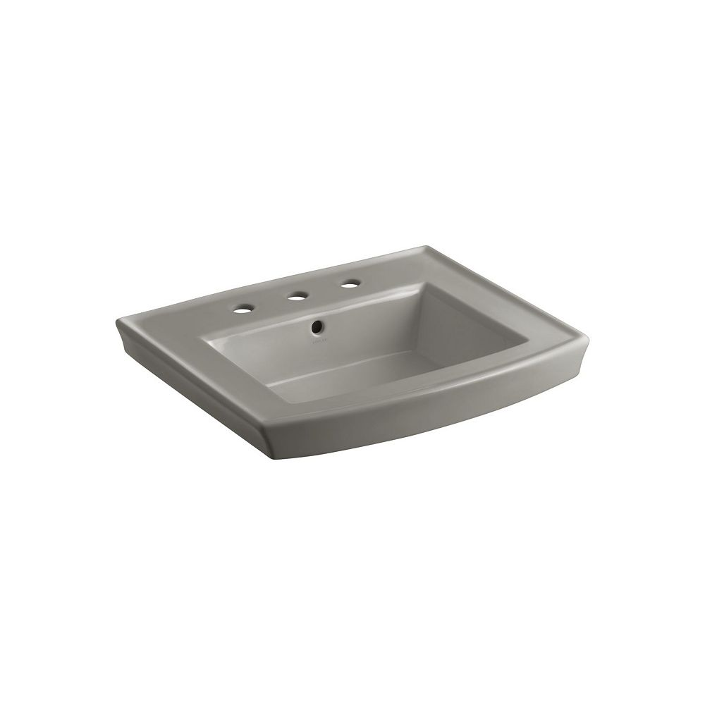 KOHLER Archer(R) pedestal bathroom sink with 8 inch widespread faucet holes