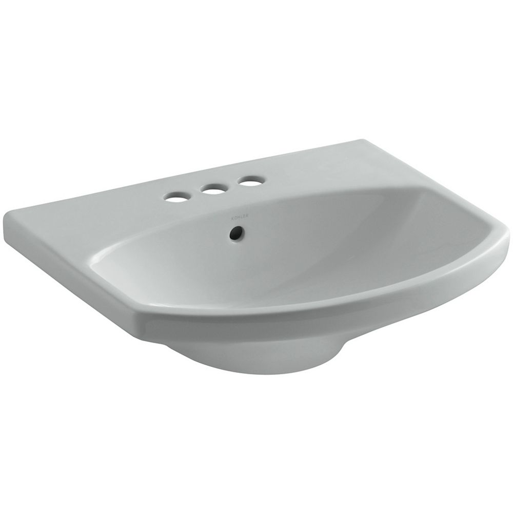 KOHLER Cimarron(R) bathroom sink with 4 inch centerset faucet holes
