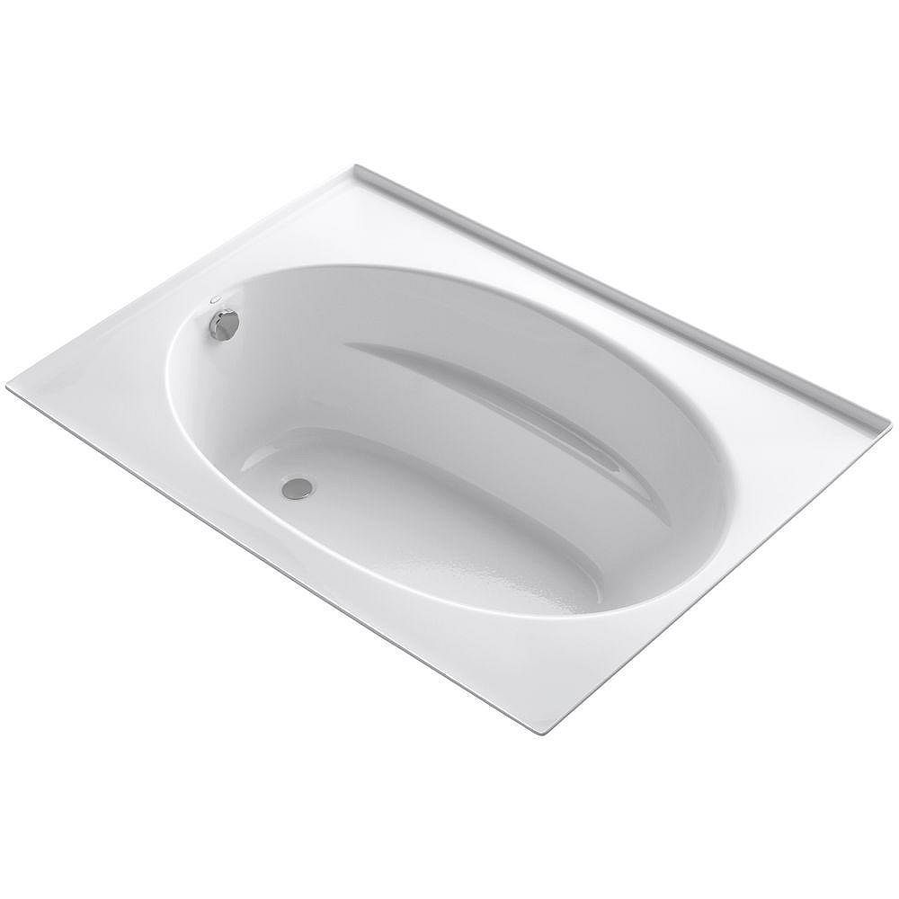 """KOHLER Windward(R) 60"""" x 42"""" alcove bath with integral flange and end drain"""