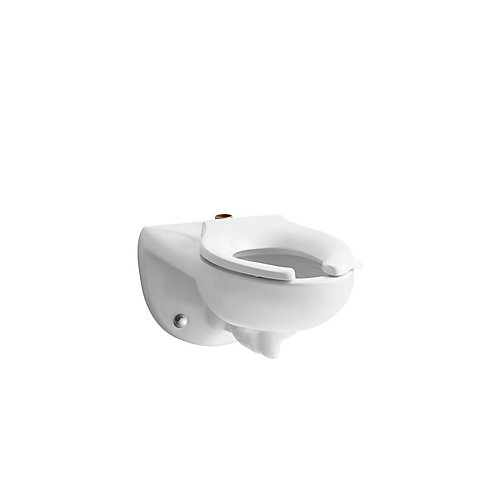 Kingston 1.28/1.6 GPF Single Flush Seatless Toilet Bowl Only with Top Spud