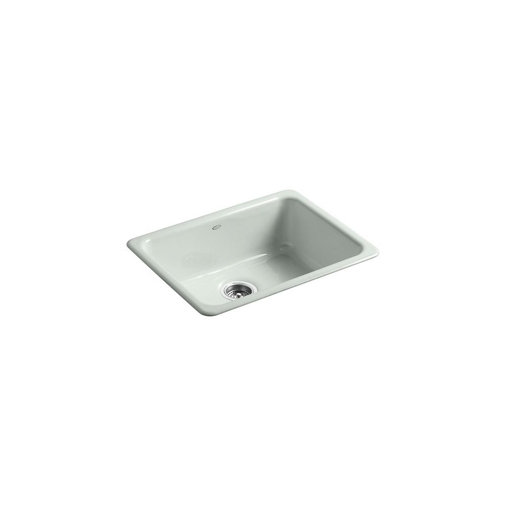 KOHLER Iron/Tones(R) Self-Rimming (24-1/4 Inch X 18-3/4 Inch) Or Undercounter (21-1/4 Inch X 15-3/4 Inch) Kitchen Sink