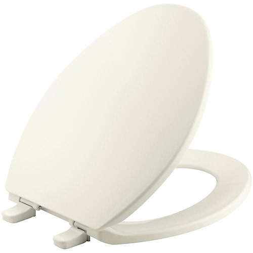 Brevia Elongated Closed Front Toilet Seat in Biscuit