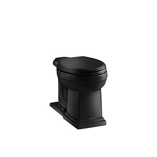 Tresham Comfort Height Elongated Toilet Bowl Only in Black Black