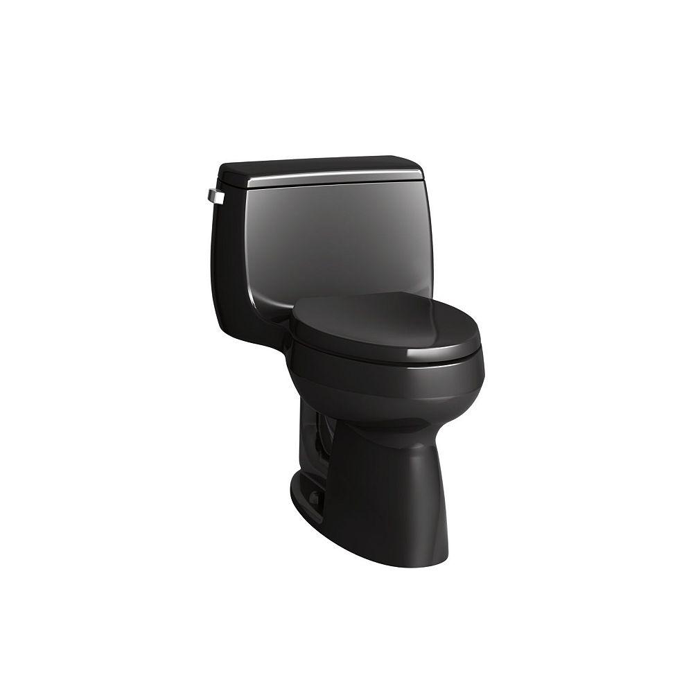 KOHLER Gabrielle Comfort Height 4.8 LPF 1-Piece Single-Flush Elongated Bowl Toilet in Black
