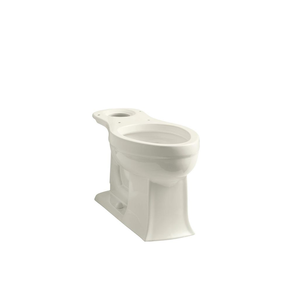 KOHLER Archer Comfort Height Elongated Toilet Bowl Only in Biscuit