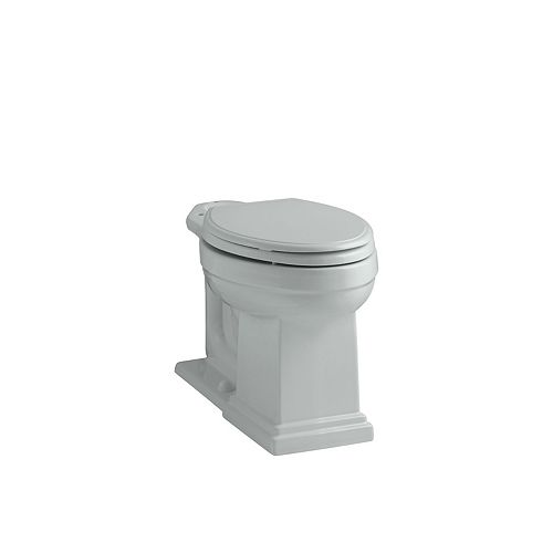 Tresham Comfort Height Elongated Bowl Toilet Bowl Only in Grey