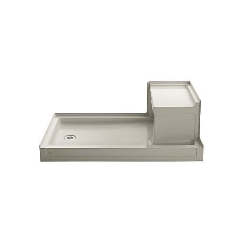 Tresham(TM) 60 Inch X 36 Inch Receptor With Integral Seat And Left-Hand Drain