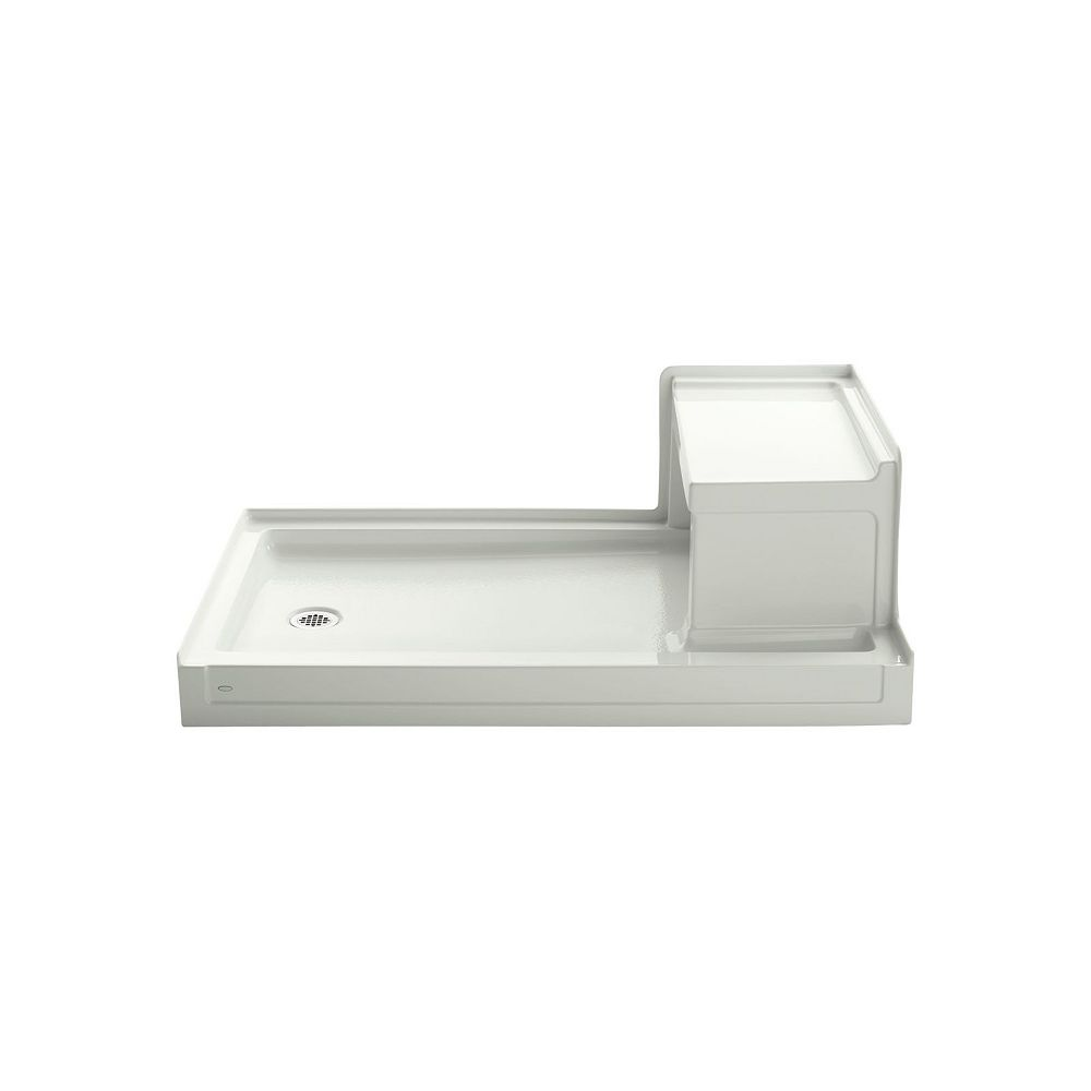 KOHLER Tresham(TM) 60 Inch X 36 Inch Receptor With Integral Seat And Left-Hand Drain