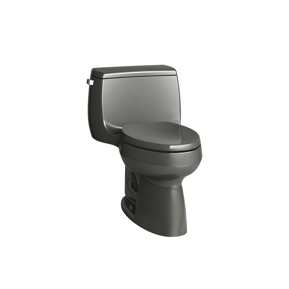 KOHLER Gabrielle Comfort Height 1-Piece 1.28 GPF Single Flush Elongated Bowl Toilet in Thunder Grey