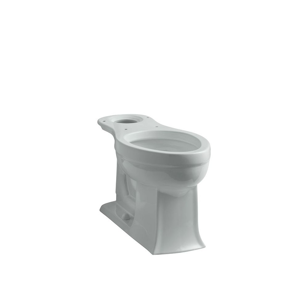KOHLER Archer Comfort Height Elongated Toilet Bowl Only in Ice Grey