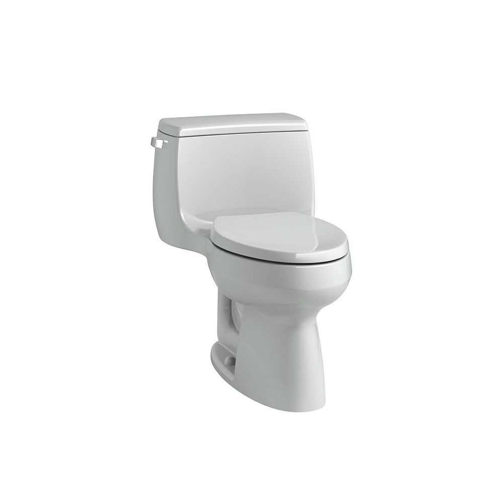 KOHLER Gabrielle Comfort Height 1-Piece 1.28 GPF Single Flush Elongated Bowl Toilet in Ice Grey