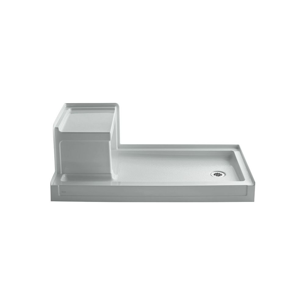 KOHLER Tresham(TM) 60 Inch X 32 Inch Receptor With Integral Seat And Right-Hand Drain