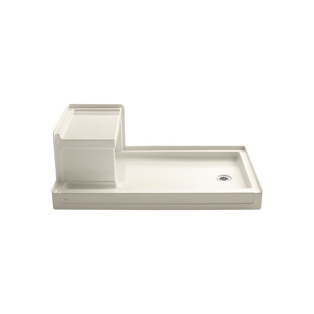 KOHLER Tresham(TM) 60 Inch X 36 Inch Receptor With Integral Seat And Right-Hand Drain