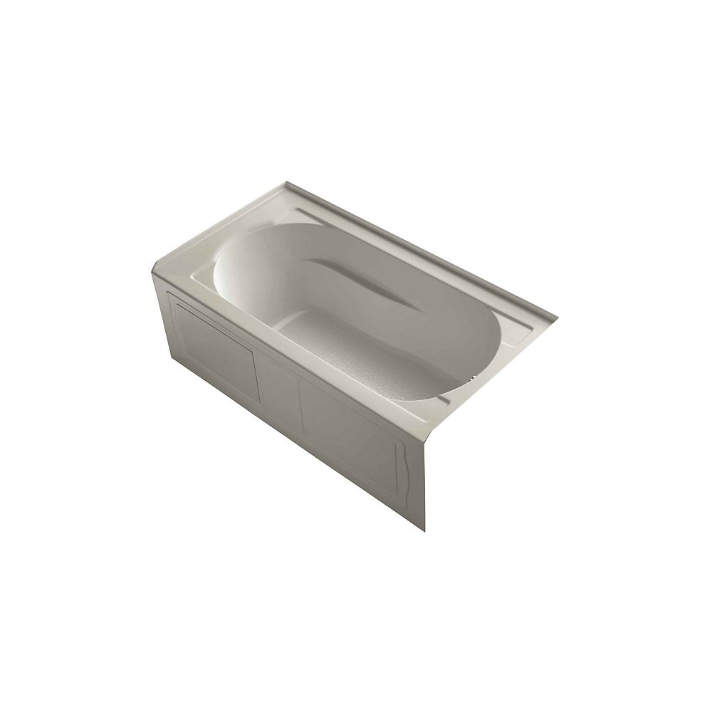 """KOHLER Devonshire(R) 60"""" x 32"""" alcove bath with integral apron, integral flange and right-hand drain"""