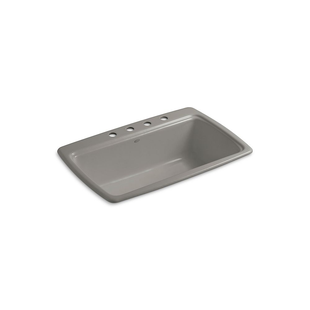 KOHLER Cape Dory(R) Self-Rimming Kitchen Sink With Four-Hole Faucet Drilling