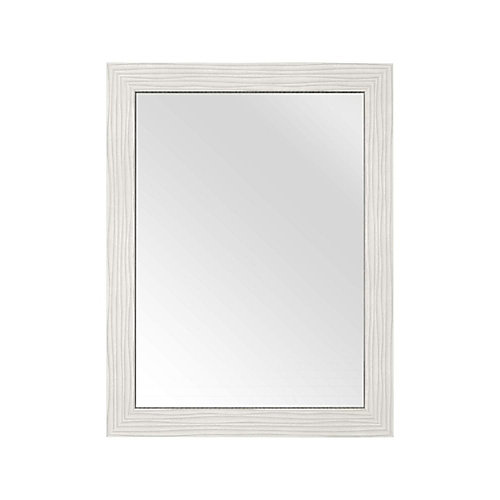 Textures Collection 23-inch x 30-inch Contour Mirror in White