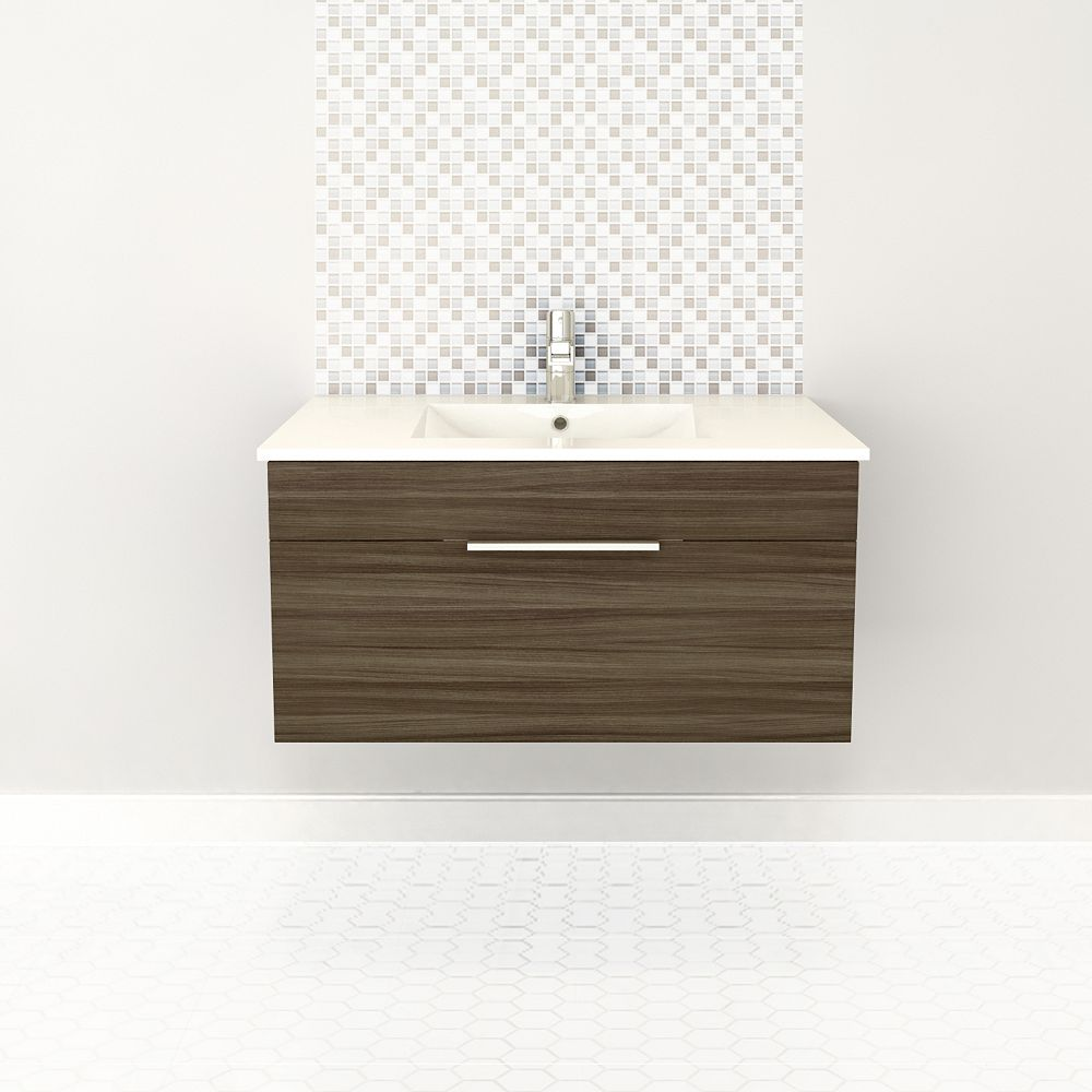 Cutler Kitchen & Bath Textures Collection 36-inch W Vanity in Brown
