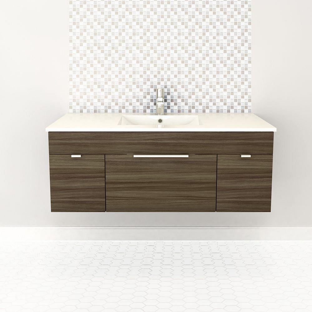 Cutler Kitchen & Bath Textures Collection 48-inch W Vanity in Driftwood