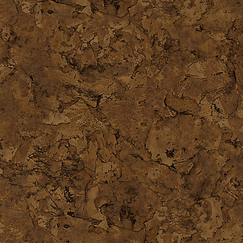 Sample - Lisbon Cork Dark Luxury Vinyl Flooring, 4-inch x 4-inch